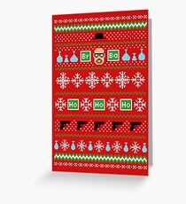 Heisenberg Holiday Sweater + Card Greeting Card