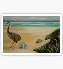 Emu by the sea Sticker