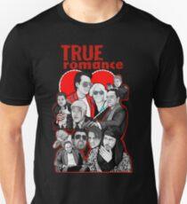 Camiseta unisex Arte de collage de personaje de True Romance