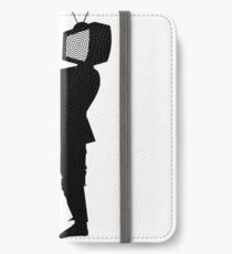 Zombie TV Guy by Chillee Wilson iPhone Wallet/Case/Skin