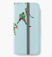 Mighty Ducks fliegen '' V '' iPhone Flip-Case/Hülle/Skin
