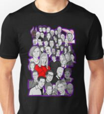 buffy the vampire slayer/Angel character collage T-Shirt