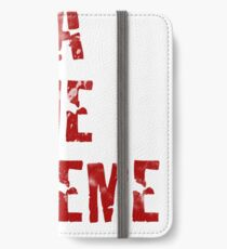 La Vie Boheme - Rent - Red Typography design iPhone Wallet/Case/Skin