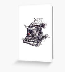 Eat Words Greeting Card