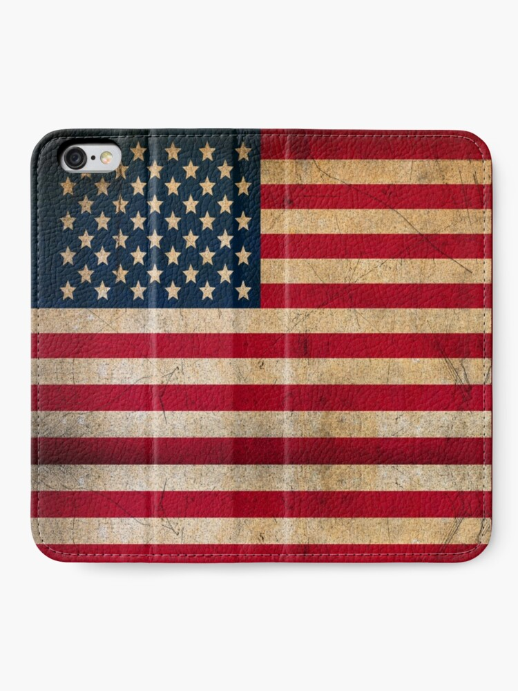 Alternate view of Vintage American Flag iPhone Wallet