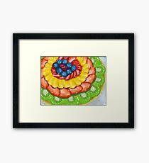Fruit tart dessert Framed Print