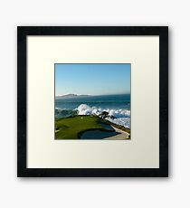 The Iconic 7th Hole at Pebble Beach Framed Print