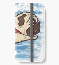 Fliegender Mops iPhone Flip-Case/Hülle/Skin