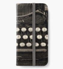 Vintage Typewriter Keyboard iPhone Wallet/Case/Skin
