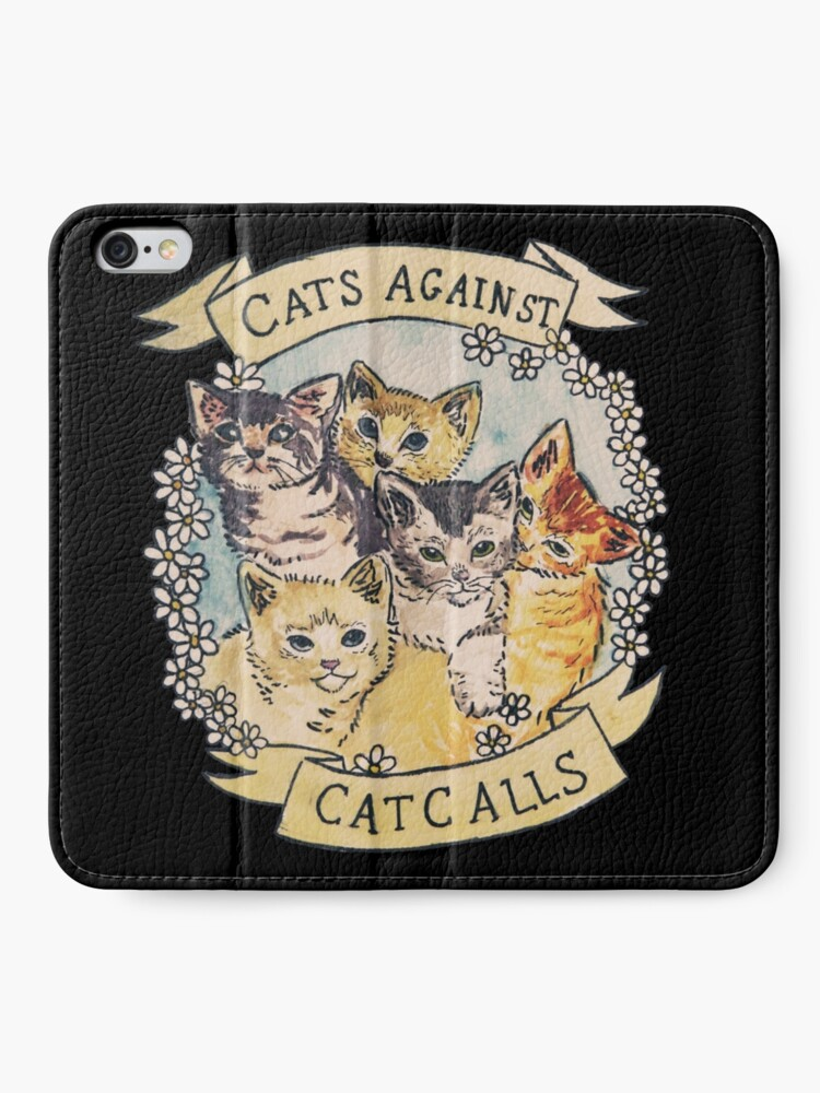 Alternate view of Cats Against Cat Calls iPhone Wallet