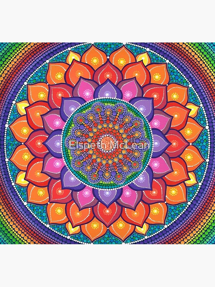 Lotus Rainbow Mandala by ElspethMcLean