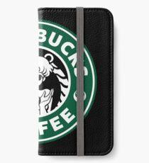 Moonbucks Kaffee iPhone Flip-Case/Hülle/Klebefolie