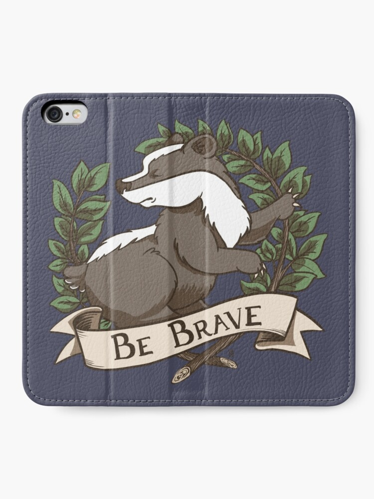 Alternate view of Be Brave Badger Crest iPhone Wallet