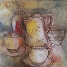 Still Life with Coffee POt by Lyn Fabian
