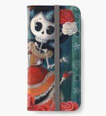 Vinilo o funda para iPhone Dia de Los Muertos Pareja de amantes esqueleto