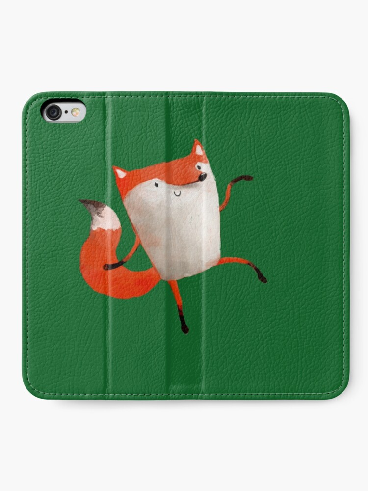 Alternate view of Happy Dancing Fox iPhone Wallet