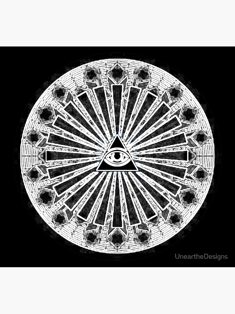 All-Seeing Eye - Black von UneartheDesigns