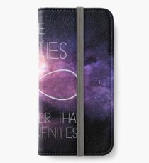 Galaxy-Some Infinities are bigger than other infinities-The fault in our stars iPhone Wallet/Case/Skin