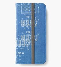 LEGO Construction Toy Blocks US Patent Art blueprint iPhone Wallet/Case/Skin
