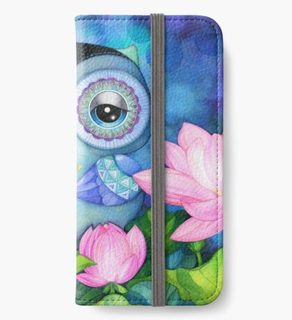 Owl in Lotus Pond iPhone Wallet/Case/Skin