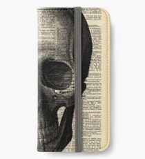 Vintage Dictionary Page Anatomy  Skull Profile iPhone Wallet/Case/Skin