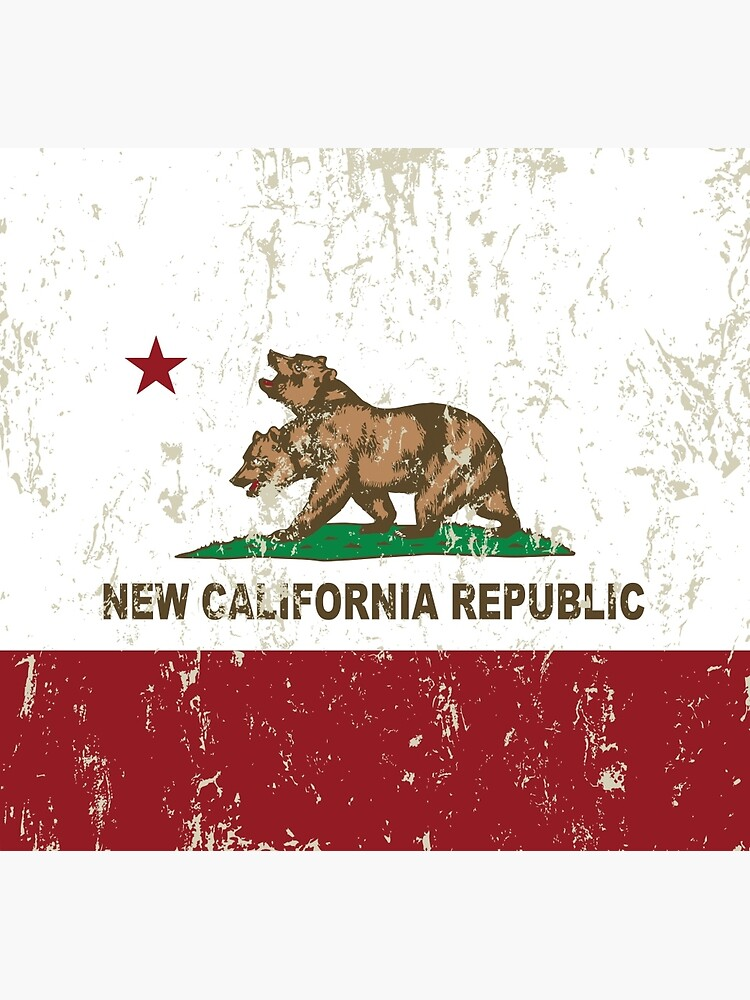 New California Republik Flagge Distressed von NorCal
