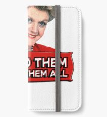 Angela Lansbury (Jessica Fletcher) Murder she wrote confession. I killed them all. iPhone Wallet/Case/Skin