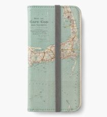 Vintage Map of Cape Cod (1917)  iPhone Wallet/Case/Skin