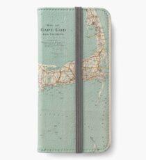 Vintage Map of Cape Cod (1917)  iPhone Flip-Case/Hülle/Skin