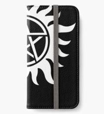 Anti-Possession Tattoo Symbol White Version - Supernatural Inspired iPhone Wallet/Case/Skin