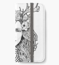 Horned Goddess by Juliana Loomer iPhone Wallet/Case/Skin