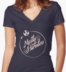 Earth: Mostly Harmless Women's Fitted V-Neck T-Shirt