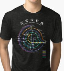 CERES STATION TRANSIT MAP Tri-blend T-Shirt