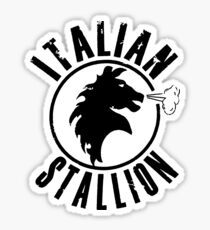 Italian Stallion Rocky Balboa Sticker