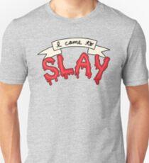Slay Beyonce Buffy Vampire Blood Kill Horror Feminist Print T-Shirt