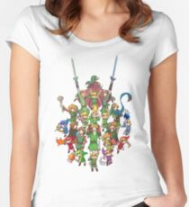 The Legend of Zelda 30th anniversary Women's Fitted Scoop T-Shirt