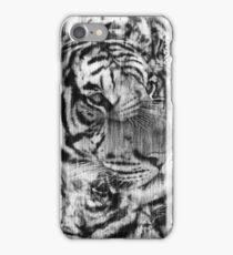 Black White Vintage Layered Tiger iPhone Case/Skin