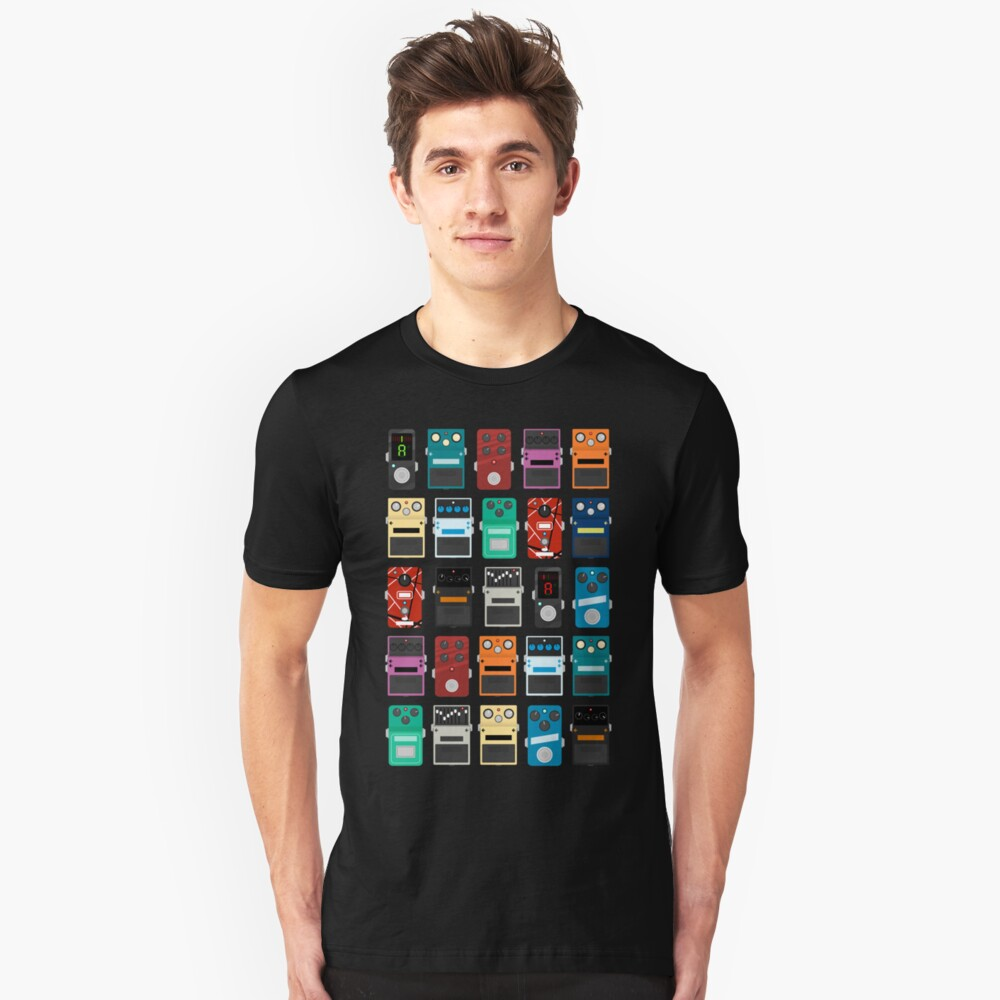 Pedal Board Unisex T-Shirt Front