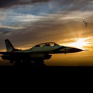 Thunderbird Routine by aviationart