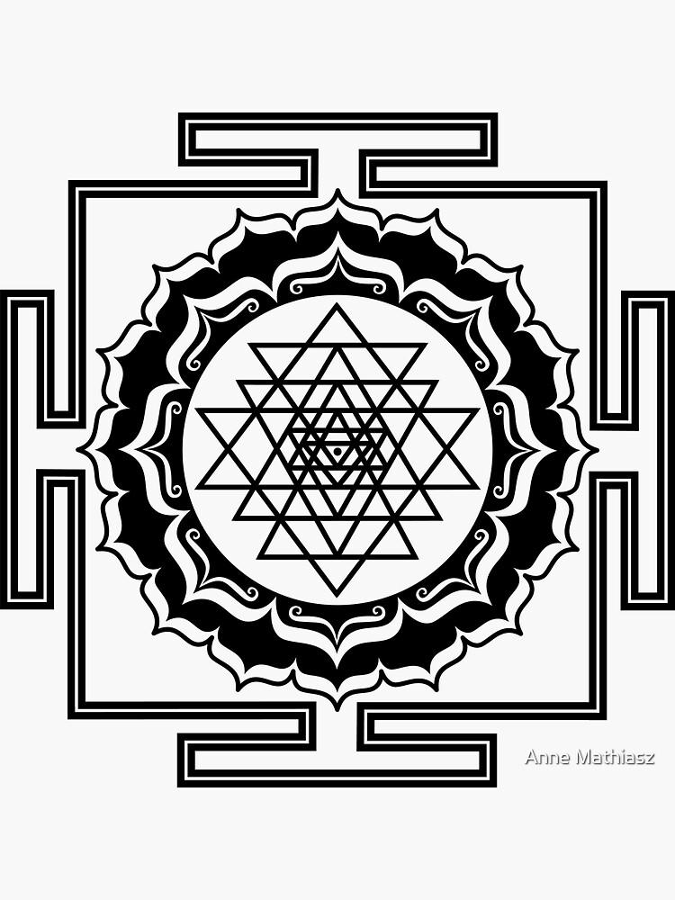Shri Yantra - Kosmischer Energieleiter, Heilige Geometrie von nitty-gritty
