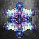 Metatron's Cube blue by filippobassano