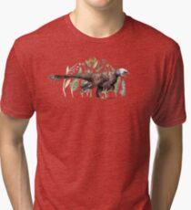 Velociraptor and plant life Tri-blend T-Shirt