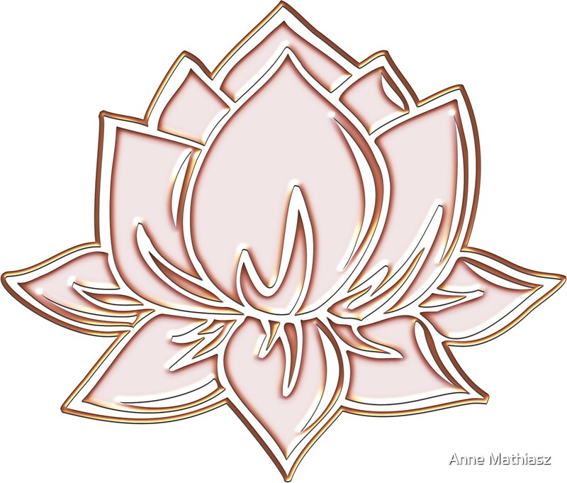 Lotus flower symbol wisdom enlightenment buddhism zen stickers by lotus flower symbol wisdom enlightenment buddhism zen by anne mathiasz mightylinksfo Choice Image