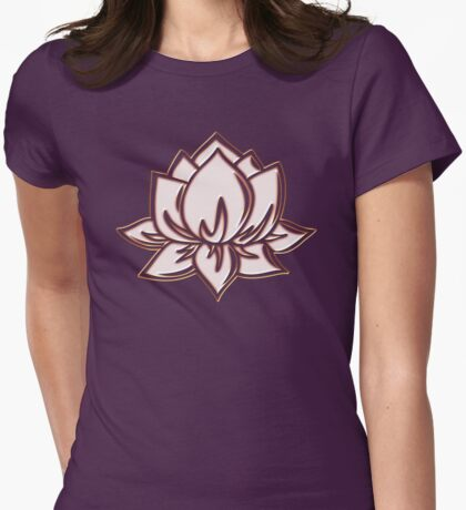 Lotus Flower Symbol Wisdom & Enlightenment Buddhism Zen Womens Fitted T-Shirt
