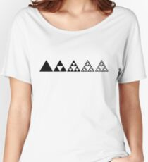 Sierpinski, Triangle, Mathematics, Fractal, Math, Geometry Women's Relaxed Fit T-Shirt