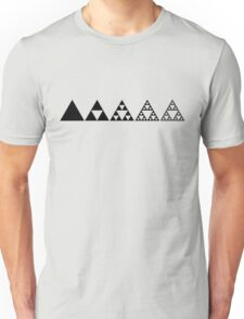 Sierpinski, Triangle, Mathematics, Fractal, Math, Geometry Unisex T-Shirt