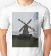 Woodchurch windmill in cartoon graphic  T-Shirt