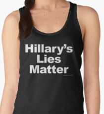 Hillary's Lies Matter Women's Tank Top