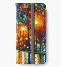 THE LONELINESS OF AUTUMN - Leonid Afremov iPhone Wallet/Case/Skin