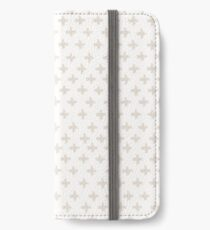 Swiss Cross in Taupe and Cream iPhone Wallet/Case/Skin